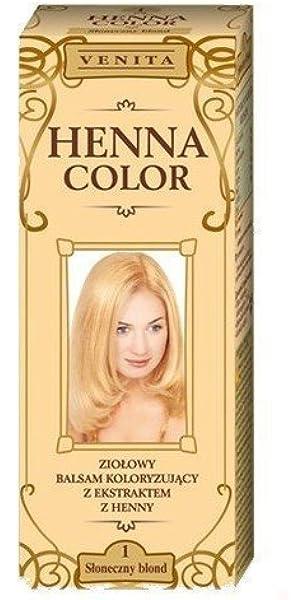 Henna Color 1 Soleado Rubia Bálsamo Capilar Tinte Para ...