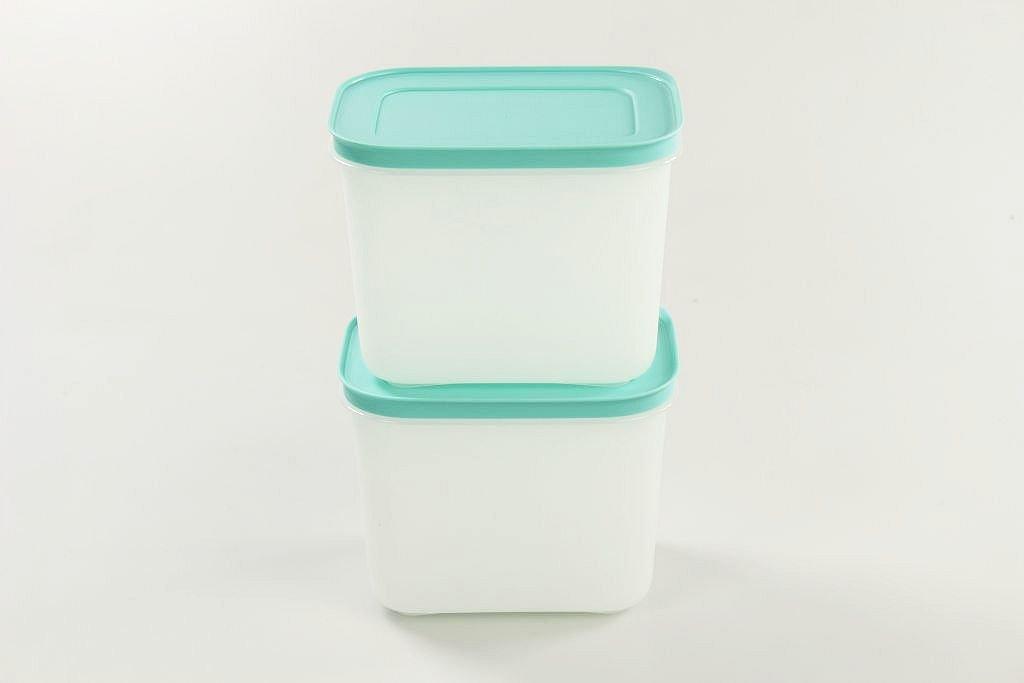 Tupperware Recipiente de cristal de hielo congelador de hielo de cristal blanco MINT 30851 1,1/L 2