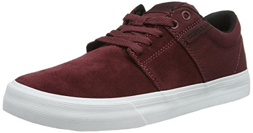 Supra Stacks Vulc II, Sneakers da Uomo Rosso (Rot (Burgundy / Black - White 657))