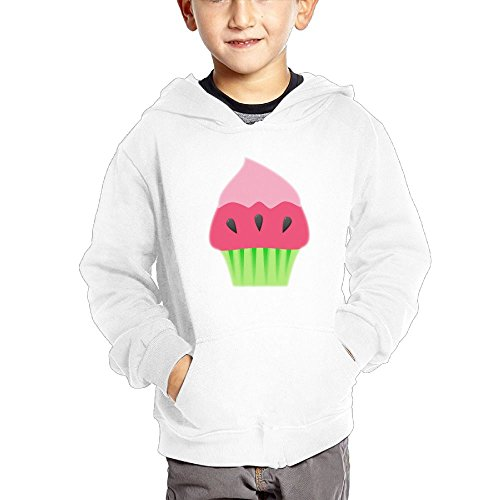 Fresh colorful Watermelon Cake Special Kid's Fashion Popular Hooded Hoodies With Pocket ()