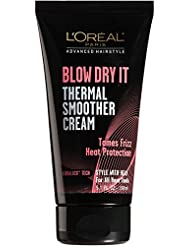 L'Oreal Paris Hair Care Advanced Hairstyle Blow Dry It Thermal Smoother Cream, 5.1 Fluid Ounce