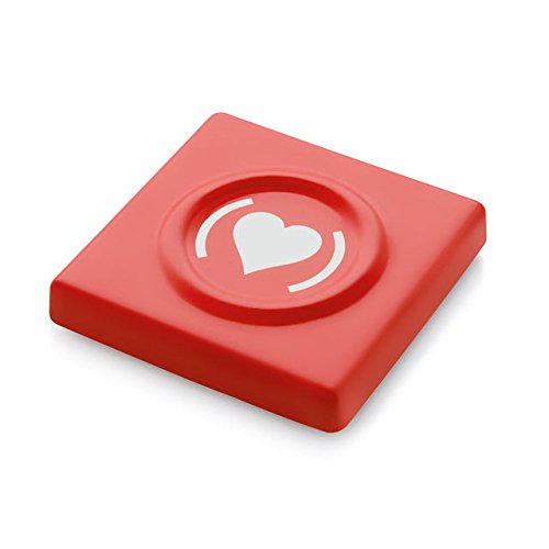 Condom Carrying Case by Alessi. Designer Susan Cohn. Made in France Condom Storage Box. Red Color.]()