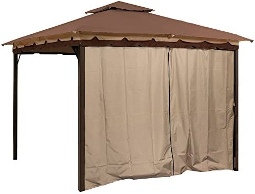 Sunjoy L-GZ436PFB Gazebo Privacy Panel Side Wall fits 10 and 12 Gazebos