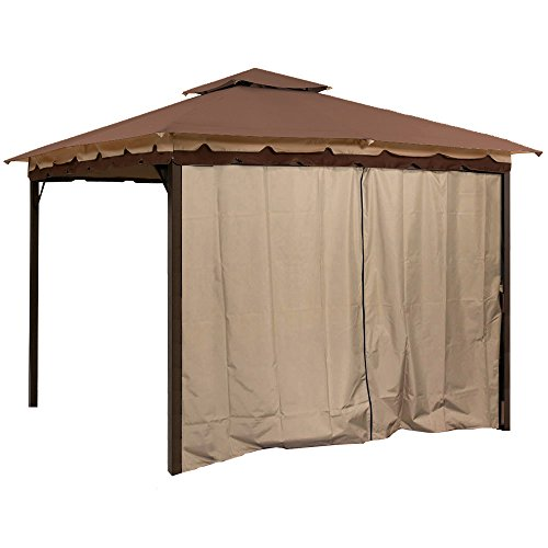 Sunjoy L-GZ436PFB Gazebo Privacy Panel Side Wall fits 10' and 12' (Love 12' Single)