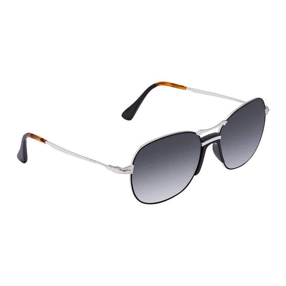 Persol PO2449S 107471 Sunglasses SILVER BLACK w// GREY GRADIENT DARK GREY Lens 56mm