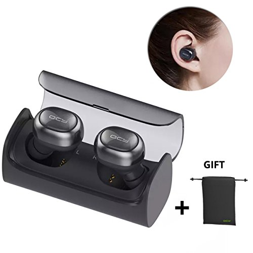Click to buy QCY Q29 Wireless Earbud,True Wireless Stereo Mini V4.1 Bluetooth Headphones with Charging Case Sweatproof Earphones with Mic for IPhone 7 Plus, Samsung S8, HTC, Motorola,Android Smartphone - From only $55.55