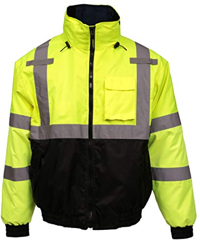Tingley J26172-L Job Sight Bomber 3.1 Hi-Viz Jacket, Large, Hi/Vis Yellow