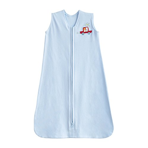 - TILLYOU Cotton Collection Baby Wearable Blanket Sleeveless Sleeping Bag and Sack - Fits Infants Newborns Ages 0-6 Months, Blue Car, Small S - Machine Washable, Super Soft, Unisex Design