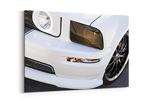 2008 Ford Mustang Black Widow Pro Touring Super Street Car USA 11 - Canvas Wall Art Gallery Wrapped 26