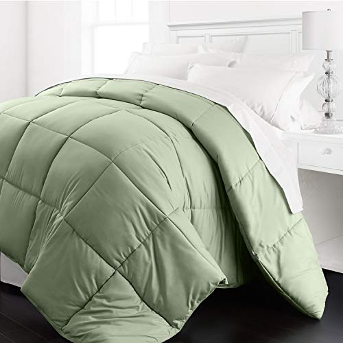 Beckham Hotel Collection 1200 Series - Lightweight - Luxury Goose Down Alternative Comforter - Hotel Quality Comforter and Hypoallergenic -Twin/Twin XL - Sage