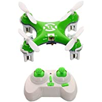 AICase Cheerson CX-10 29mm 4 Channel 2.4GHz Radio Control RC Mini Quadcopter Helicopter Drone 6-Axis Gyro UFO with LED Flash Light (Green)