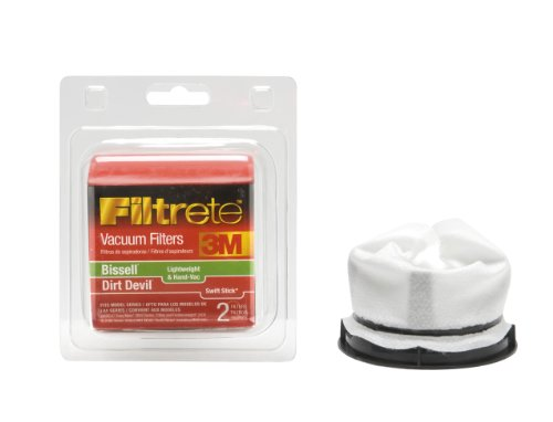 (3M Filtrete Bissell/Dirt Devil Lightweight & Hand Vac/Swift Stick Allergen Vacuum Filter)