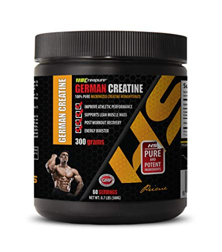 Muscle Strength Supplement - German CREATINE Powder - 100% Pure MICRONIZED CREATINE MONOHYDRATE - Creatine for Mass Building - 1 Can 300 Grams (60 Servings)