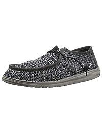 Hey Dude Wally Sox Shoes Black Gray