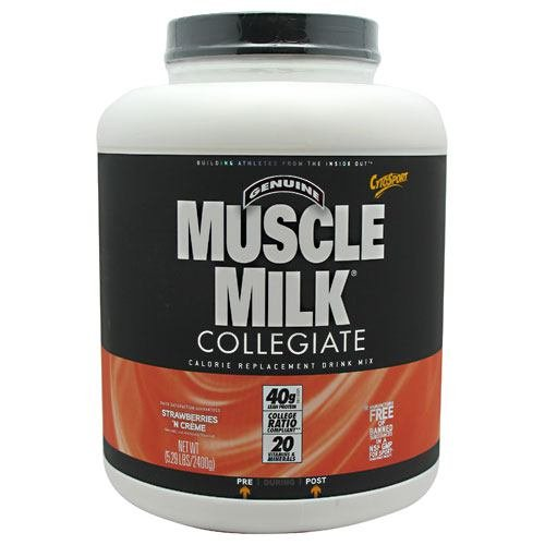 Price comparison product image CytoSport Collegiate Muscle Milk - Strawberry Creme - 5.29 lbs (2400 g)