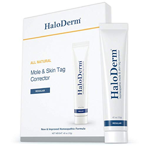 HaloDerm Skin Tag Remover & Skin Growth Remover – Homeopathic Fast & Effective Skin Tag Cream – Remove up to 3 Skin Tags…