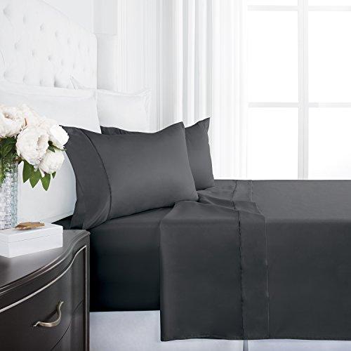 Egyptian Luxury Silky Soft Satin 4-Piece Bed Sheet Set - Ult