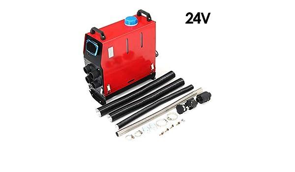 Eruditter Calefacción Calentador de Aire 5000 W 5 kW 12 V/24 V Auto Calentador para Vapor Barco Front LCD de Combustible Interruptor de Llave Silenciador ...