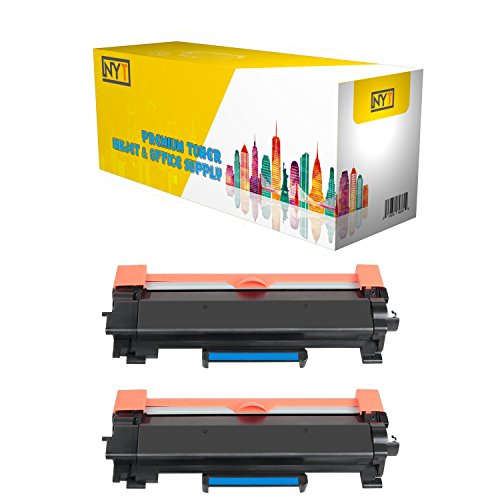 Nyt Replacement For Brother Tn760 Toner   High Yield Black 2 Pack No Chip For Brother Hl L2350dw Hl L2370dw Hl L2370dw Xl Hl L2390dw Dcp L2550dw Hl L2395dw Mfc L2710dw Mfc L2750dw Mfc L2750dw Xl