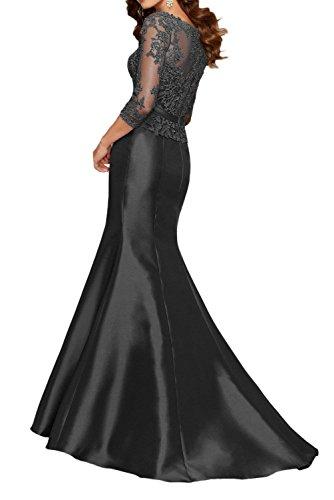 Festlichkleider Lang Langarm Rot Charmant mit Spitze Dunkel Abendkleider Lila Brautmutterkleider Damen Etuikleider wYA1q0U