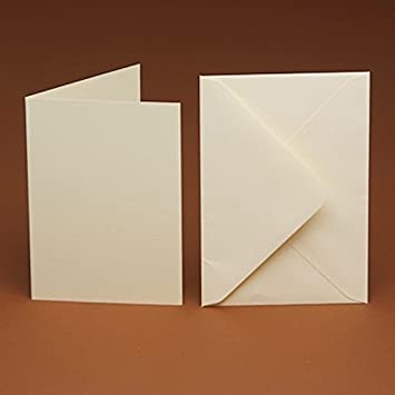 10 x A5 White Creased Card and 10 C5 White Envelopes