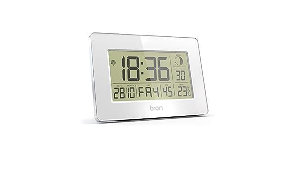 B:ON - Cloud reloj de pared y despertador radiocontrolado: Amazon.es: Hogar