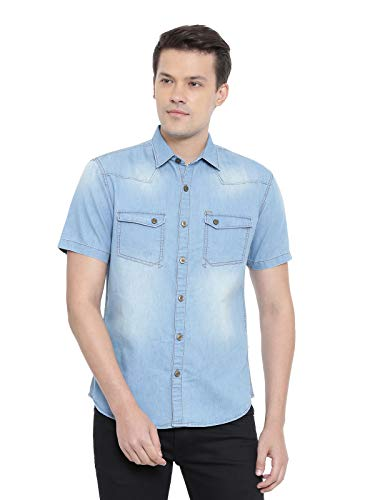 RODID Men #39;s Casual Denim Shirt