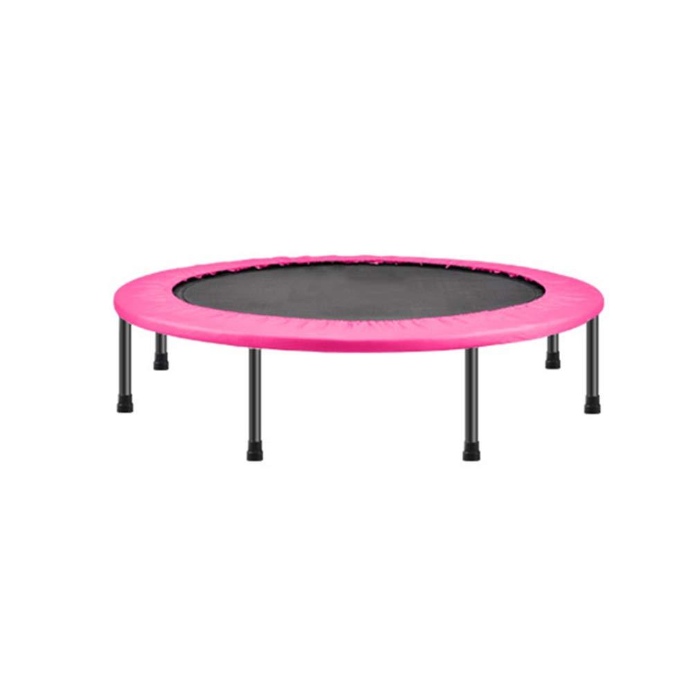 48 Zoll Trampolin Folding Indoor mit Sicherheitsunterlage, Fun Mini Fitness Trampolin für Kinder Erwachsene - Max Load 220lbs