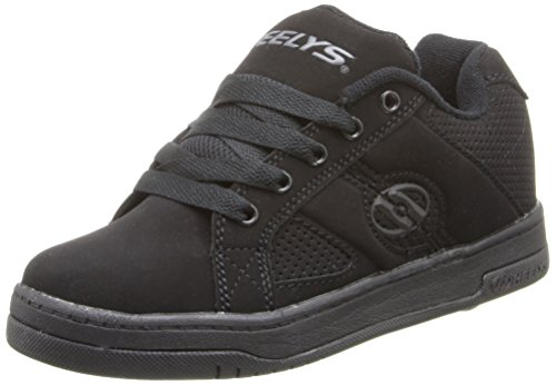 Heelys Split Skate Shoe, Black/Black, 1 M US Little - Black Shoes Girls Heely