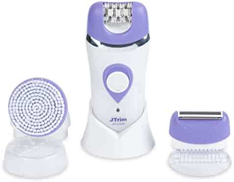Epilator For Women By JTrim SilkTouch 3 in 1 Electric Shaver With Facial Cleansing Brush JPT-LS500
