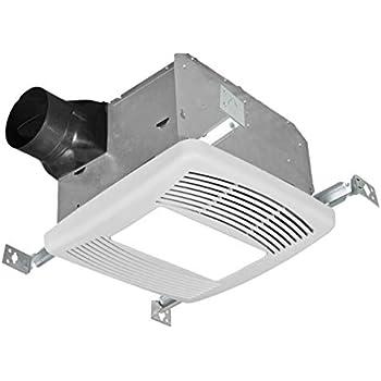 Kaze appliance se90tl ultra quiet 90t cfm 0 3 sones - Ultra quiet bathroom exhaust fan with light ...
