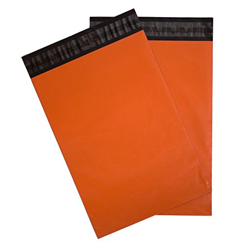Poly Mailers Orange Shipping Envelopes Unpadded - Choose from 8.5x12, 10x13, 12.5x15.5 and 14.5x19 Size Options (Seal Halloween Costumes)