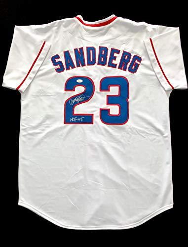 Ryne Sandberg Chicago Cubs Signed Autograph Baseball Jersey JSA COA Chicago Cubs Batting Practice Jersey