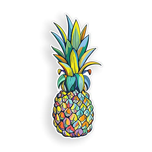 Colorful Pineapple Sticker Multi Color Car Truck Window Bumper Custom Fully Printed Colorful Vinyl Decal Graphic