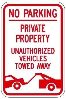 aersing propiedad privada prohibido aparcar unauthoried ...