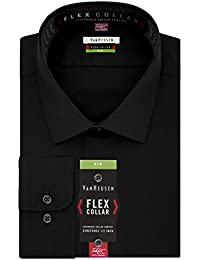 Big and Tall Mens Dress Shirts Big Fit Flex Solid Spread Collar