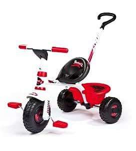 Smoby - Triciclo Con Palo Y Rueda Libre Be Fun Rojo