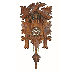Trenkle Uhren Kuckulino Black Forest Clock with Quartz Movement and Cuckoo Chime, Turning Dancers, incl. Battery TU 2018 PQ