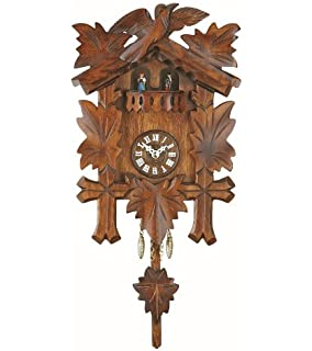 kuckulino black forest clock with quartz movement and cuckoo chime turning dancers incl - Black Forest Cuckoo Clocks