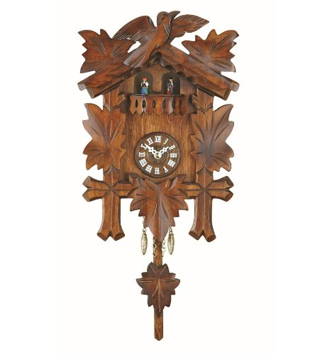 Trenkle Uhren Kuckulino Black Forest Clock With Quartz Movement And Cuckoo  Chime, Turning Dancers TU