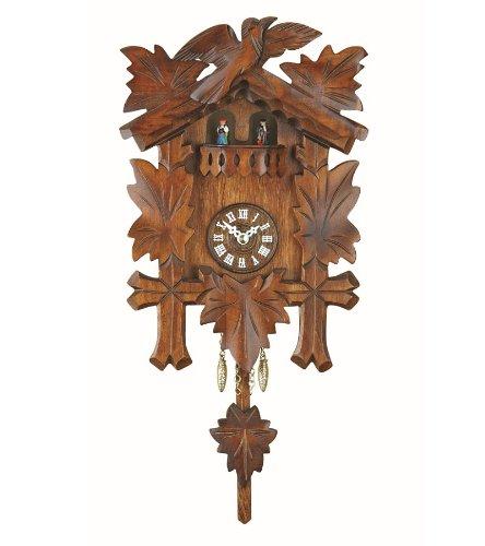 Trenkle Uhren Kuckulino Black Forest Clock with quartz movement and cuckoo chime, turning dancers, incl. battery TU 2018 - Clock Battery Cuckoo