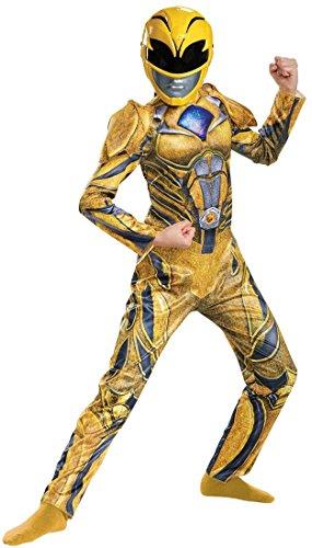 Power Rangers Yellow Ranger Kids Med 7-8 Costume Halloween Dress (China Girl Halloween Costume)