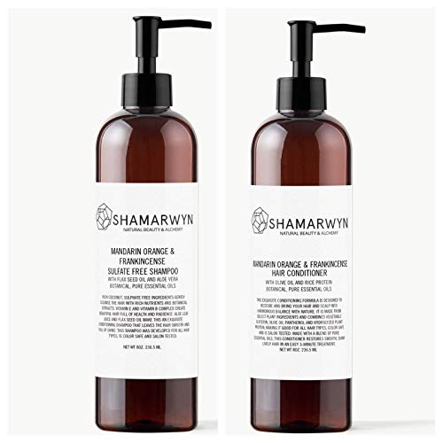 Orange & Frankincense Shampoo & Conditioner Set, Sulfate Free, Natural-Organic, Color Safe ()
