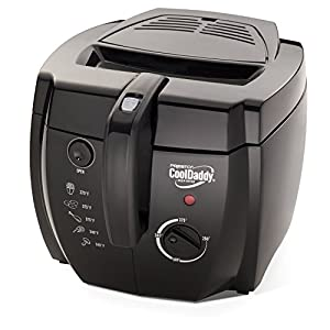 Presto 05442 CoolDaddy Cool-touch Deep Fryer - Black