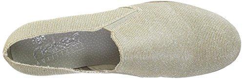 Rieker Damen M1354 Slipper Gold (lightgold / 90)