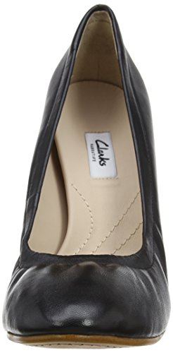 Clarks Grace Eva, Zapatos de Tacón para Mujer Negro (Black Leather)