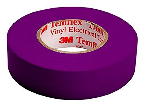 3M tvio1925 Temflex 1500 vinilo cinta aislante elé ctrica, 19 mm x 25 m, 0,15 mm, pú rpura [Paquete de 10] púrpura [Paquete de 10] 7000062311