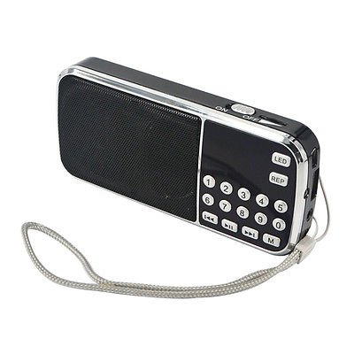 FidgetFidget Speaker Portable HiFi Mini Multifunctional Digital MP3 Radio USB TF FM Radio[Kjs by FidgetFidget
