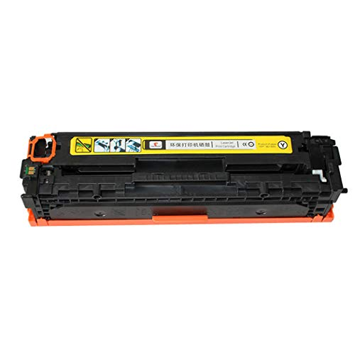 Compatible with HP HP2025 Toner Cartridge HP451 HP476 Printer, Compatible with Toner Cartridge for HP CE410X CE410A CE411A CE412A CE413A Toner Cartridge, 4 Colors Optional (Color : Yellow)