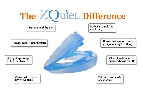ZQuiet Anti-Snoring Treatment, 2-Size Comfort System Starter Kit, Set of 2 Sleep Aid Mouthpieces Plus Travel Case by ZQuiet (Image #4)